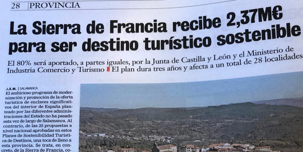 Sierrra de Francia contará con Plan de Sostenibilidad Turística